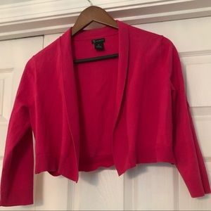 NWOT pink thin shrug sweater w:roll down collar
